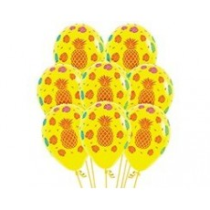 Hawaiian Luau Tropical Design on Fashion Yellow Latex Balloons