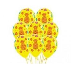 Hawaiian Party Decorations Tropical Fashion Yellow Latex Balloons