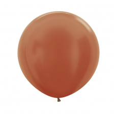 Brown Metallic Copper  Latex Balloons