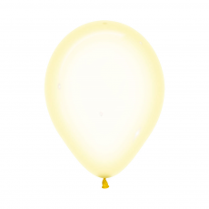 Yellow Crystal Pastel  Latex Balloons