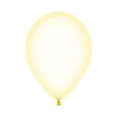 Teardrop Crystal Pastel Yellow Latex Balloons 30cm Pack of 100