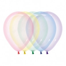 Crystal Pastel Multi Coloured Latex Balloons 30cm Pack of 25