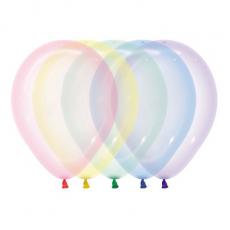Multi Colour Crystal Pastel ed  Latex Balloons