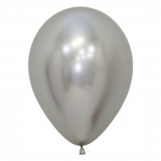 Silver Metallic Reflex  Latex Balloons