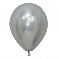 Silver Metallic Reflex  Latex Balloons