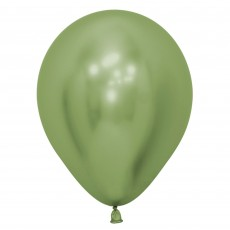 Green Metallic Reflex Lime  Latex Balloons
