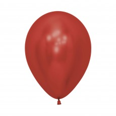 Crystal Reflex Red Latex Balloons 30cm Pack of 50