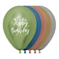 Happy Birthday Latex Balloons 30cm Pack of 12