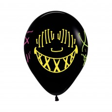 Black Fashion Neon Masks Latex Balloons