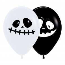 Black & White Ghosts Latex Balloons