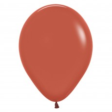 Brown Party Decorations - Latex Balloons Fashion Terracotta 12cm