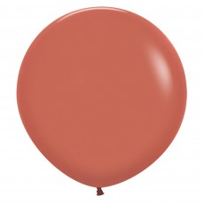Brown Party Decorations - Latex Balloons Fashion Terracotta 60cm