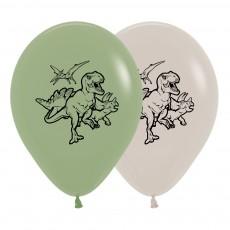 Dinosaur Fashion Eucalyptus & White  Latex Balloons