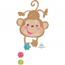 Fisher Price Brown Baby Monkey Foil Balloon