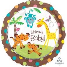 Round Fisher Price Hello Baby Standard XL Welcome Baby! Foil Balloon 45cm