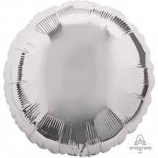 Silver Metallic Standard HX Un-Packaged Foil Balloon
