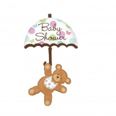 Baby Shower - General Bear & Umbrella Foil Balloon