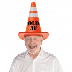 Over The Hill Construction Party Supplies - Giant Safety Cone Hat