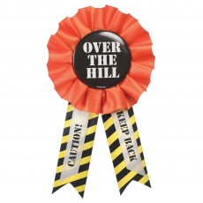 Over The Hill Construction Party Supplies - Award Ribbon