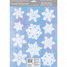 Christmas Party Decorations - Snowflakes Window