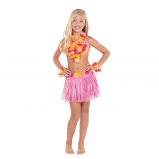 Hawaiian Luau Hula Skirt Kit ii Child Costumes