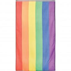 Rainbow Fabric Flag 1.5m x 90cm