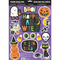 Halloween Hallo-ween Friends Glitter Window Misc Decoration