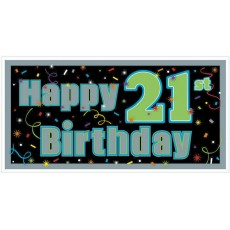 21st Birthday Brilliant Birthday Banner
