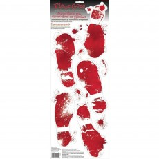 Halloween Foot Prints Floor Goor Vinyl Misc Decoration