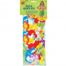 Hawaiian Luau Hula Skirt Kit Child Costumes