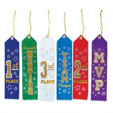 Soccer Recognition Ribbon Awards Pack of 6