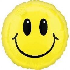 Round Emoji Standard HX Smile Face Foil Balloon 45cm