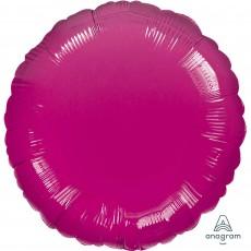 Round Metallic Fuchsia Magenta Standard HX Foil Balloon 45cm