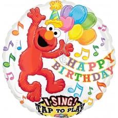 Round Sesame Street Elmo Sing-A-Tune Singing Balloon 71cm