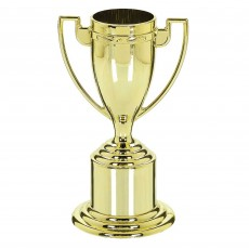 Gold Cup Trophies Pack of 8