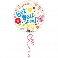 Get Well Standard XL Foil Balloon