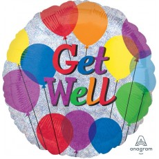Get Well Party Decorations - Foil Balloon Standard Balloons