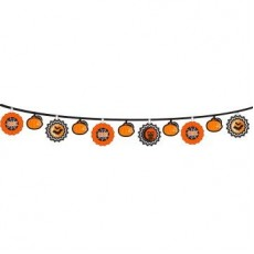 Halloween Modern  Fan Banner Garland
