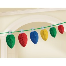 Christmas Party Decorations - Garland Christmas Lights Honeycomb