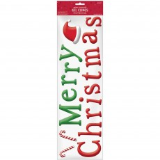 Christmas Party Decorations - Gel Cling