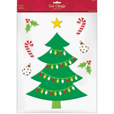 Christmas Party Decorations - Christmas Tree Gel Cling
