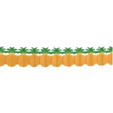 Hawaiian Luau Tissue Paper Pineapple Garland