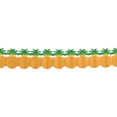 Hawaiian Summer Luau Pineapple Tissue Paper Garland