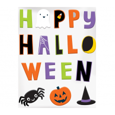 Halloween Hallo-ween Friends Large Gel Cling Misc Decoration