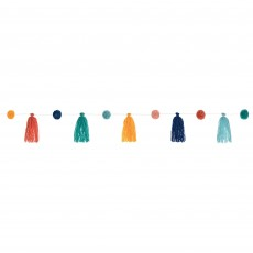 Boho Vibes Tassel & Pom Pom String Garland 11cm x 3.29m