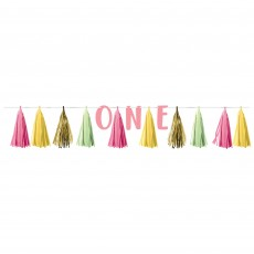 Girl's 1st Birthday Party Decorations - Garland Tassel