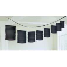 Black Paper Lantern Garland 3.65m