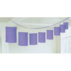 New Purple Paper Garland Lantern 3.65m