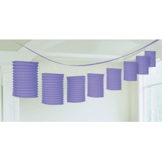 Purple New Paper Garland Lantern