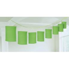 Kiwi Green Paper Lantern Garland 3.65m